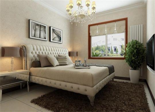 卧室白色床简约风格装饰设计图片