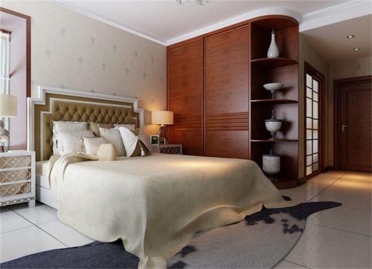 卧室咖啡色衣柜简约风格装潢设计图片