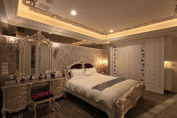 卧室灰色梳妆台欧式风格装修图片