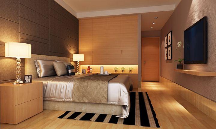 卧室白色灯具欧式风格装饰图片