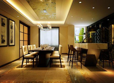 餐厅黄色地砖欧式风格效果图
