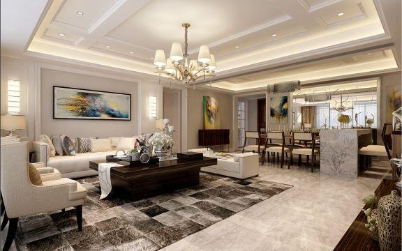 本案例风格偏现代和简约法式多一些,简约法式家具常用洗白处理与华丽配色,洗白手法传达法式乡村特有的内敛特质与风情,配色以白、金、深色的木色为主调。设计主要讲究细节的装饰,通过细节的精细设计就能让整个房间充满华贵和浪漫。