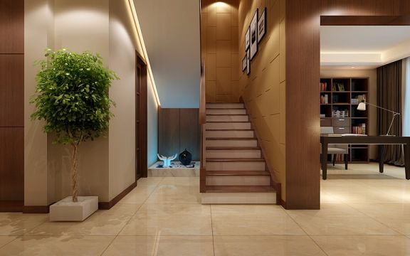 2018现代玄关图片 2018现代楼梯装修图