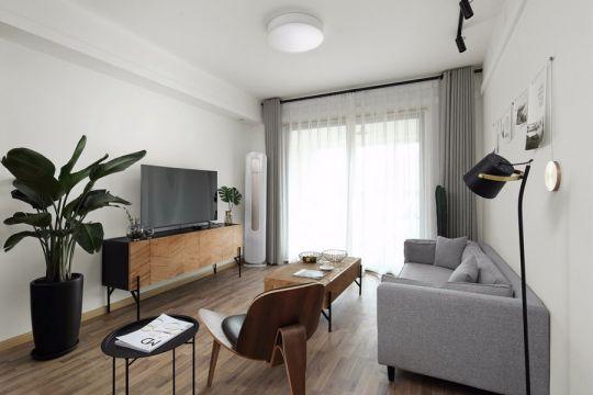 客厅咖啡色电视柜构造图