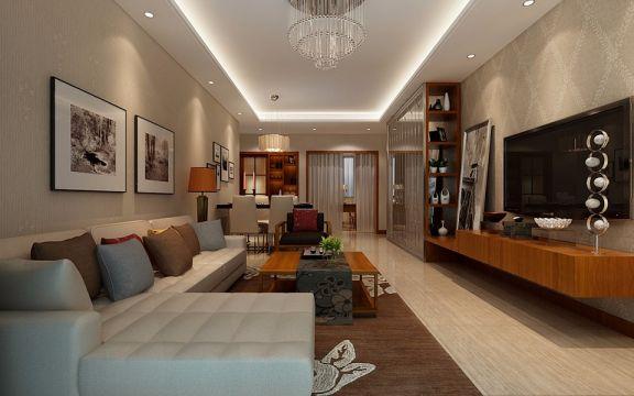 2018现代简约客厅装修设计 2018现代简约灯具设计图片