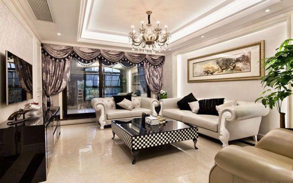 客厅白色沙发欧式风格装饰图片