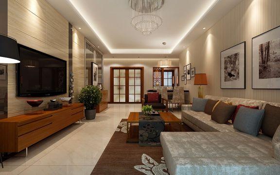 典雅客厅现代简约室内装修图片