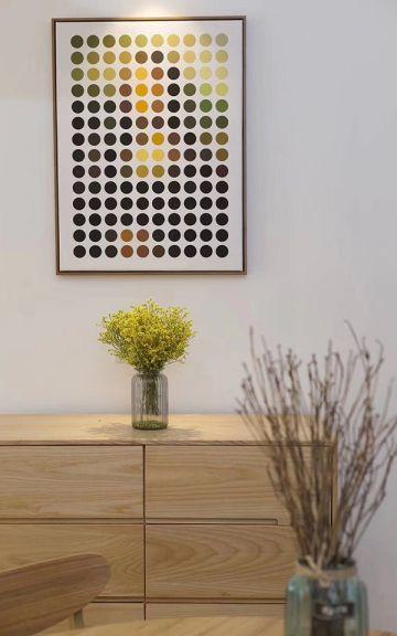 餐厅灰色背景墙日式风格装饰设计图片