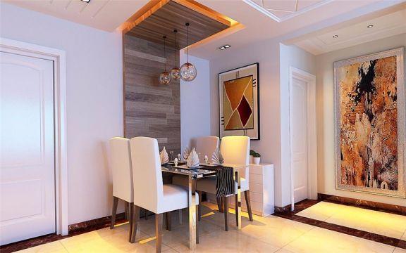 餐厅黑色餐桌设计方案
