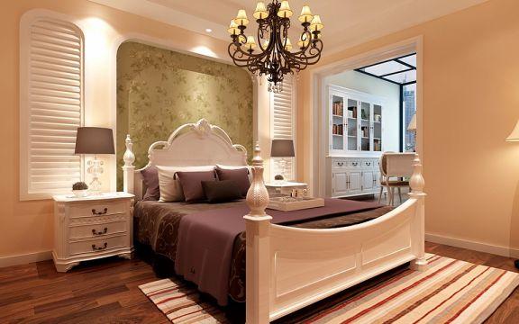 卧室床头柜现代欧式风格装饰图片