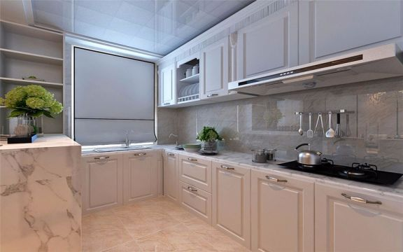 沉稳厨房简欧室内装饰