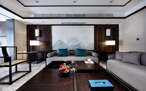中式风格125平米三室两厅新房装修效果图