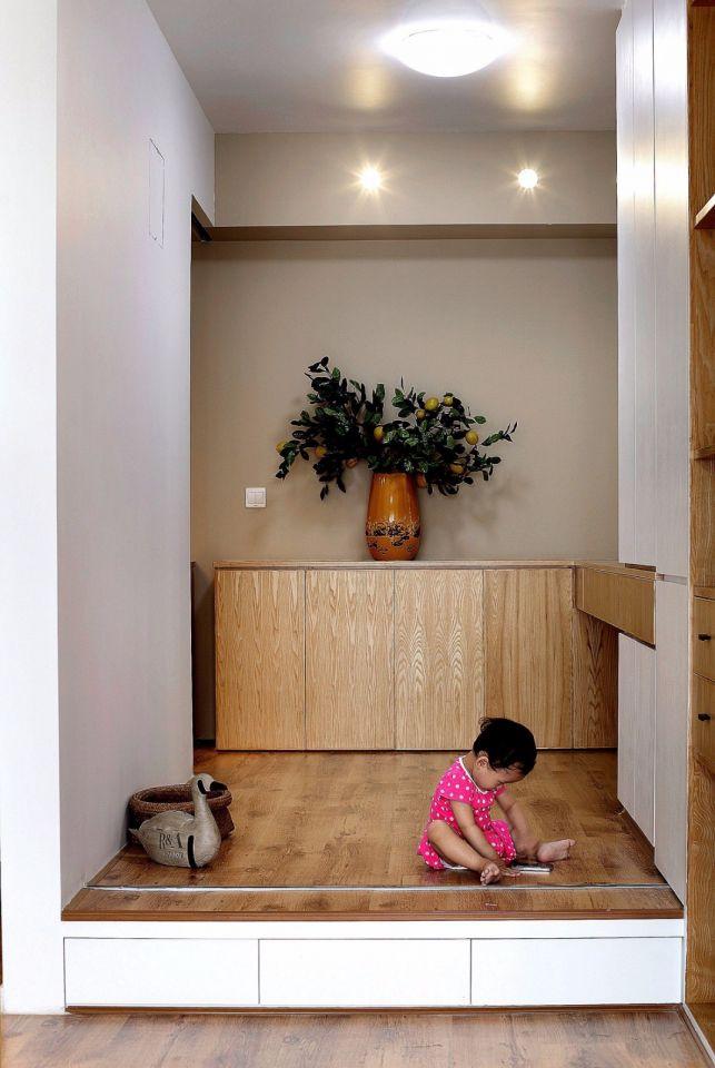起居室榻榻米北欧风格装修设计图片