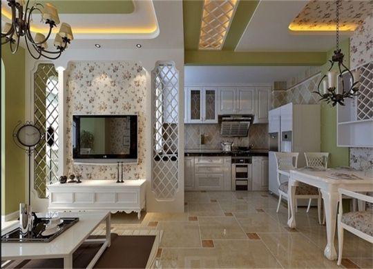 70平米田园风格两居室装修效果图