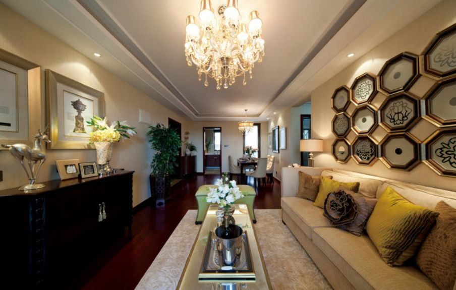 南京星雨华府120平三室一厅简约风格装修效果图