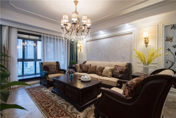 美式风格200平米复式室内装修效果图