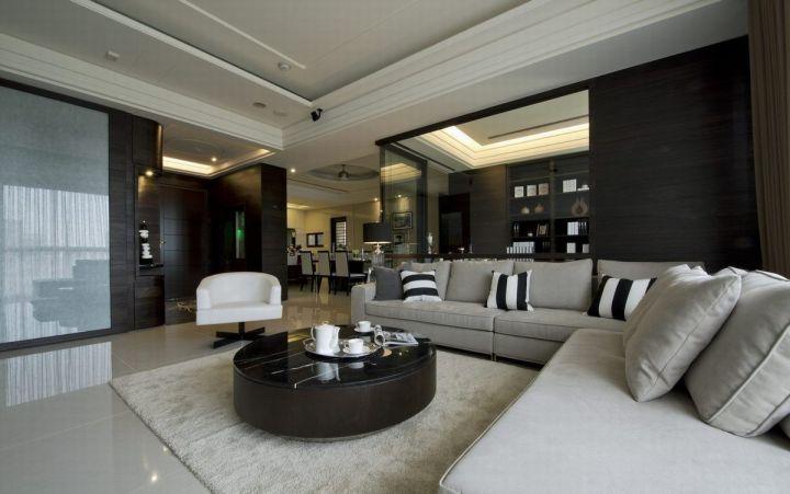 水岸枫景145平米后现代风格三居室装修效果图