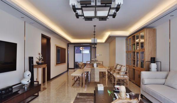钱江御府170平方新中式风格四居室装修效果图
