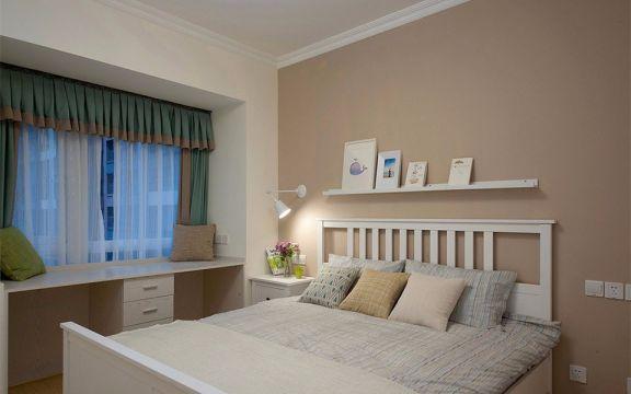 卧室绿色窗帘装修图