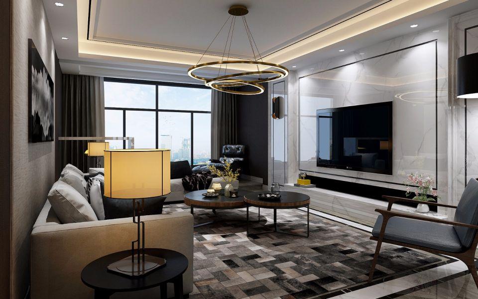 现代风格143平米套房室内装修效果图