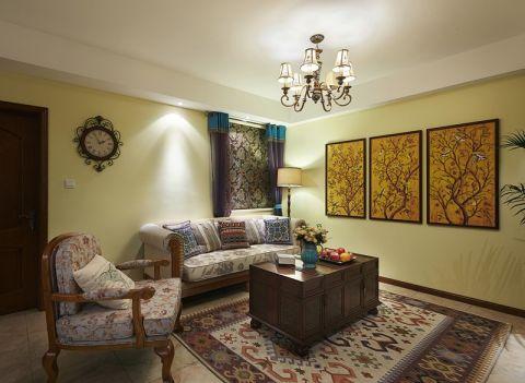 大成门110平两居室混搭风格效果图