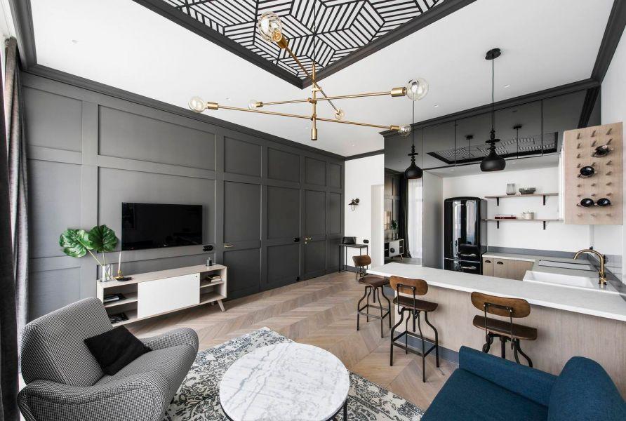 120平新中式风格三室两厅装修效果图