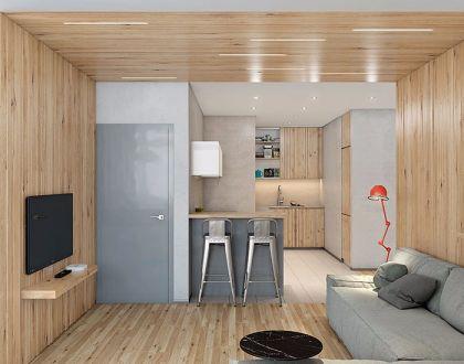 简约风格60平米一室两厅室内装修效果图