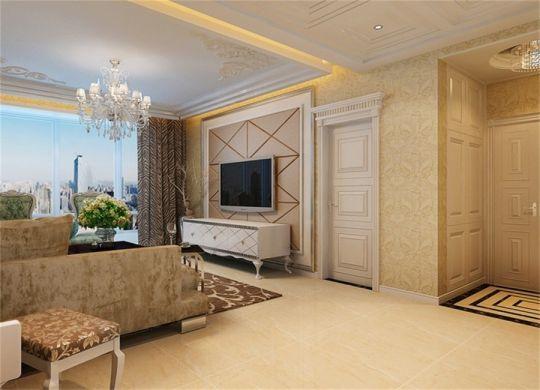时尚白色客厅装潢图