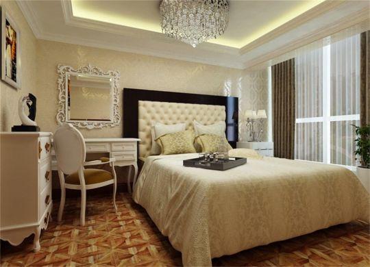 卧室白色梳妆台装潢图
