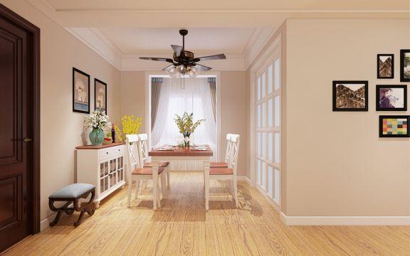 餐厅白色现代简约风格装饰效果图