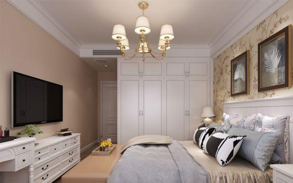 卧室黄色照片墙现代简约风格装修图片
