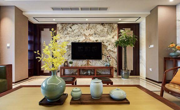 自然客厅电视柜设计效果图