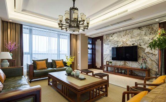 舒适客厅新中式装修设计