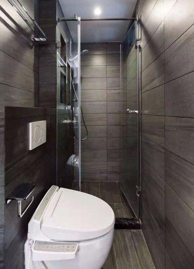 小巧玲珑浴室地砖装修效果图