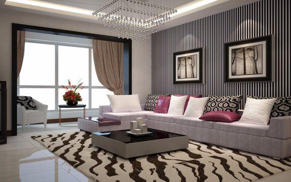 现代风格132平米三室两厅新房装修效果图
