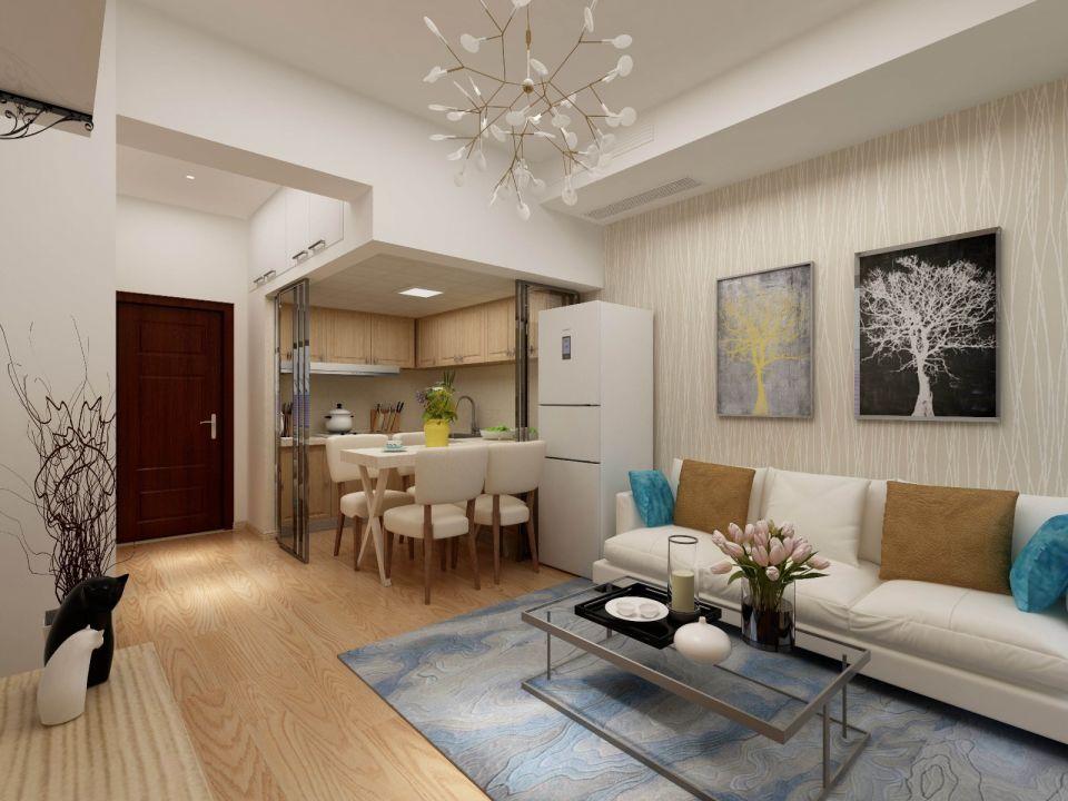 简约风格59平米一居室新房装修效果图