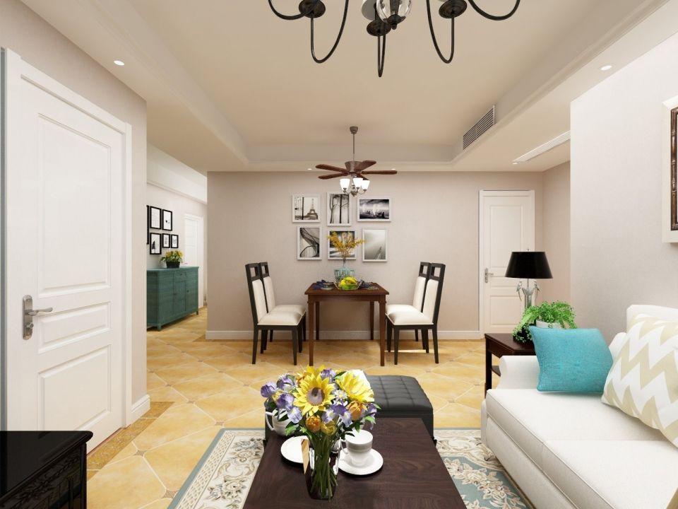 78平简约三居室装饰效果图