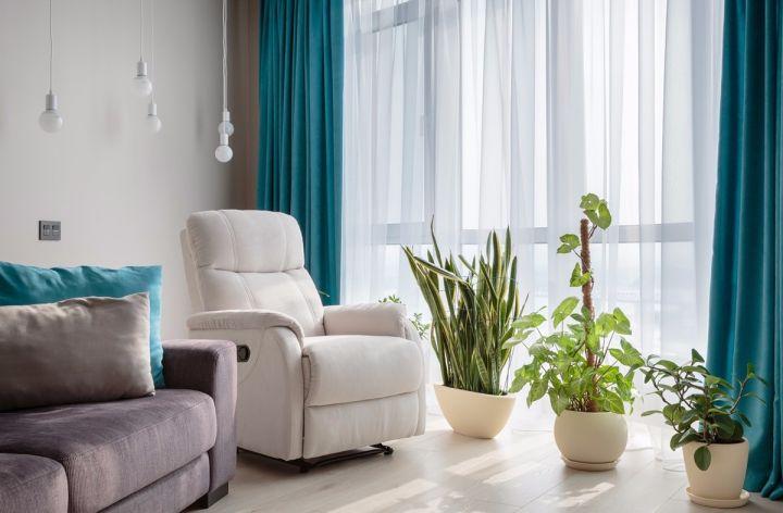 客厅咖啡色沙发简约风格装潢图片