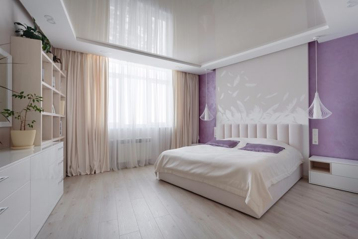 卧室白色床头柜简约风格装修效果图