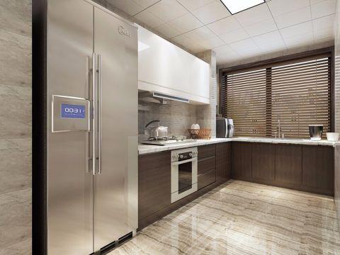 厨房咖啡色现代风格效果图