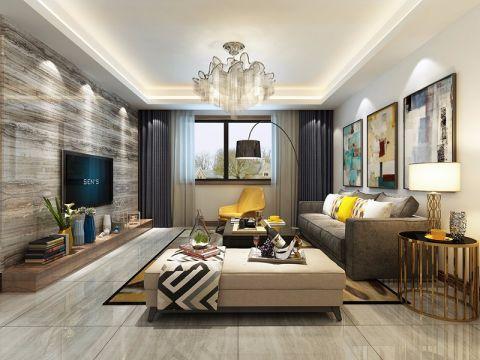 2018现代客厅装修设计 2018现代灯具设计图片