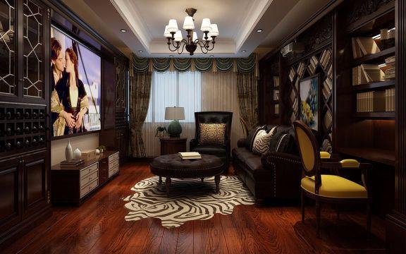 合肥城市庭院别墅300平米5室3厅1厨3卫美式风格装修效果图