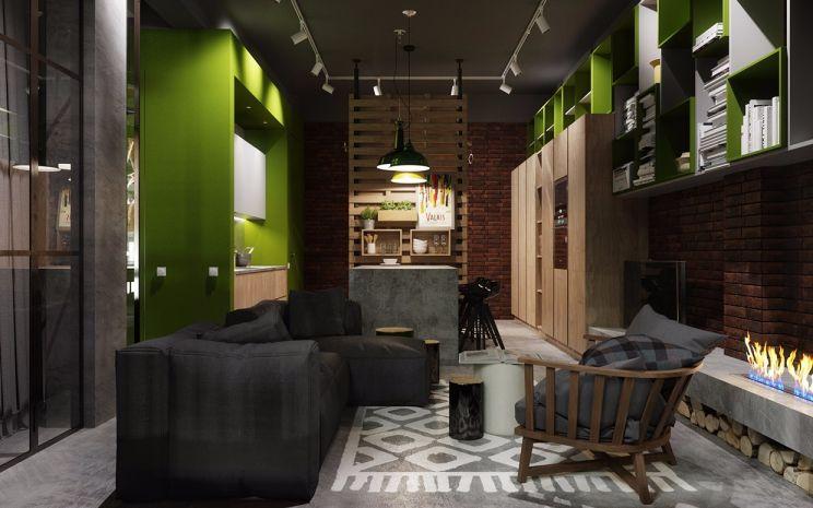 自然灰色沙发装修实景图片