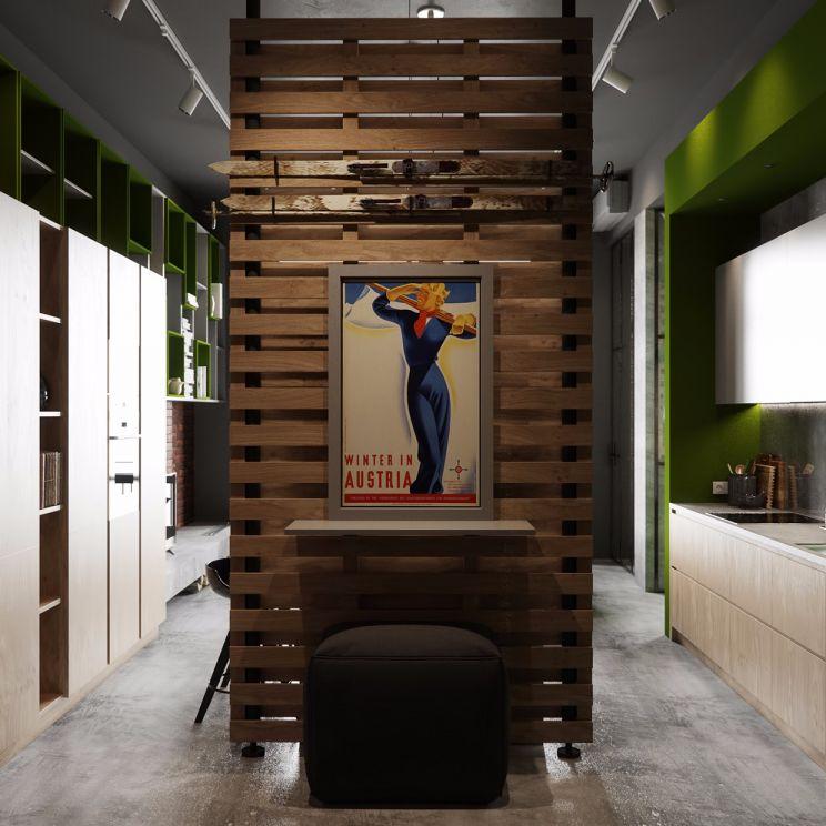 厨房咖啡色橱柜装饰设计图片