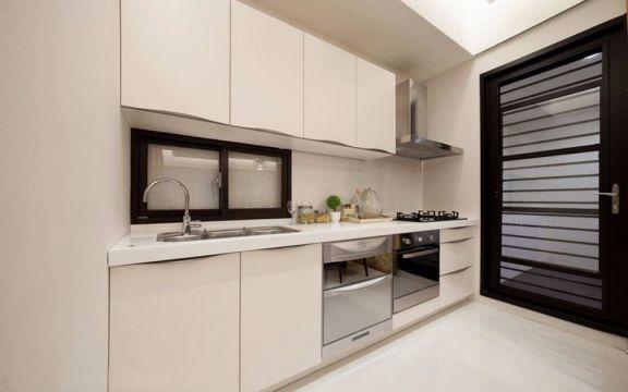 精雕细刻日式白色橱柜设计效果图