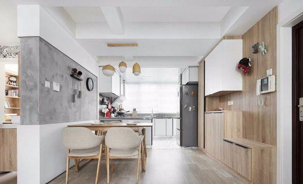 餐厅黄色餐桌北欧风格装饰设计图片