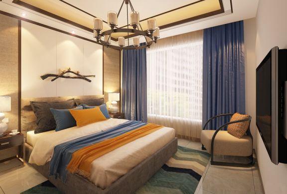 2019新中式卧室装修设计图片 2019新中式窗帘装修图
