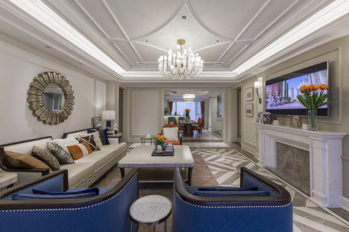 美式风格148平米四室两厅新房装修效果图