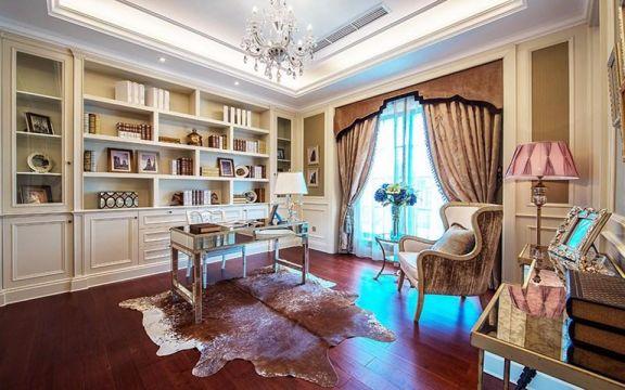 设计精巧书房窗帘设计