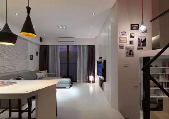 2018现代简约客厅装修设计 2018现代简约吊顶图片